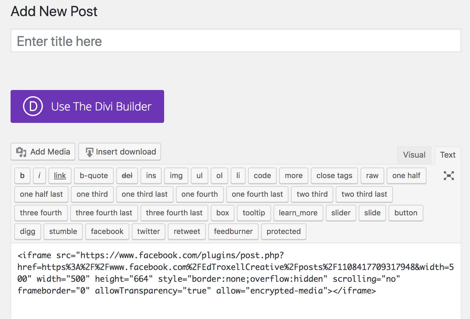 adding embed code