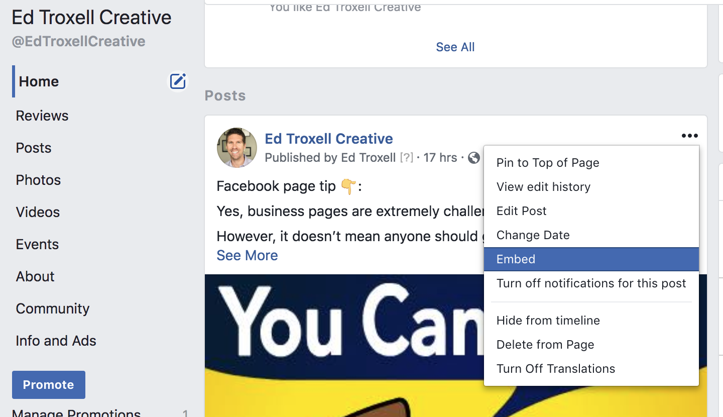 How to embed a Facebook post