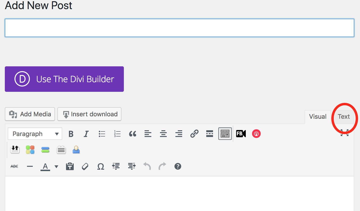 creating a new blog post and adding embed code
