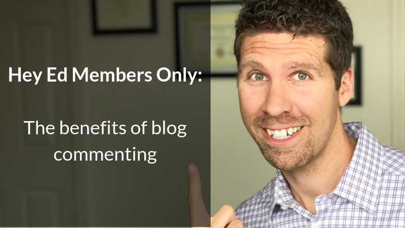 The benefits of blog commenting