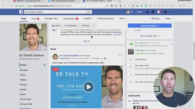 How to get your Facebook business page posts seen