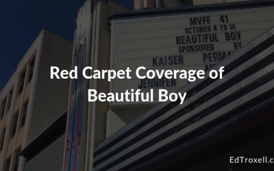 Red Carpet coverage of Beautiful Boy staring Timothee Chalemet and Steve Carell