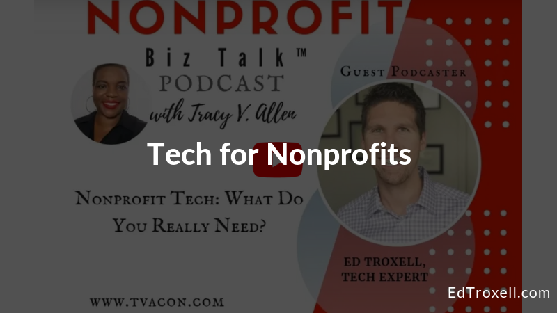 Tech for Nonprofits: What Do You Really Need?