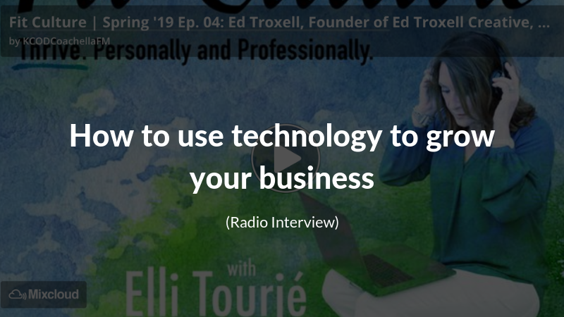 Fit Culture Radio with Elli Tourie interviewing Ed Troxell from Ed Troxell Creative