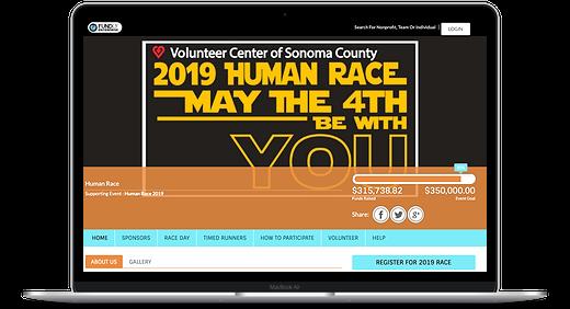 Human Race website 2019