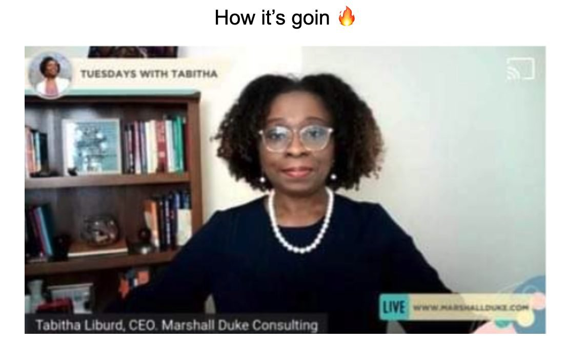 Going live and what it looks like after working with a business coach who specializes in live video