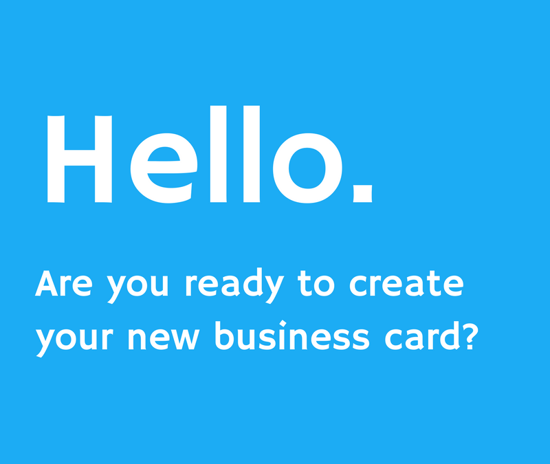 Make your own digital business card