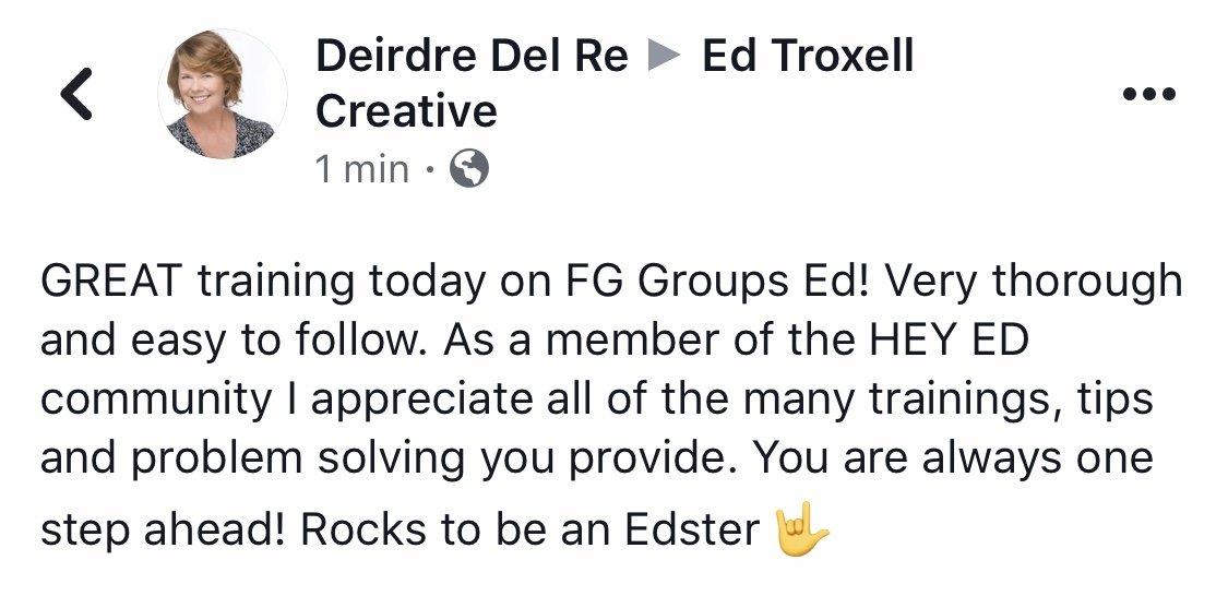 Facebook group training